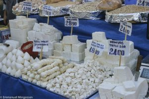 Etal de fromages à Istanbul