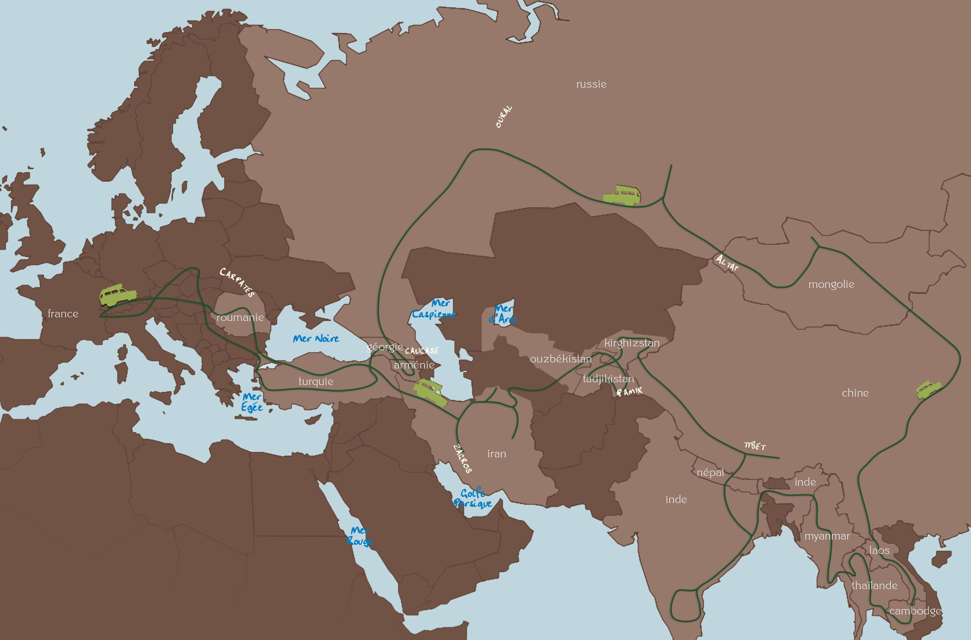 La carte du deuxième voyage